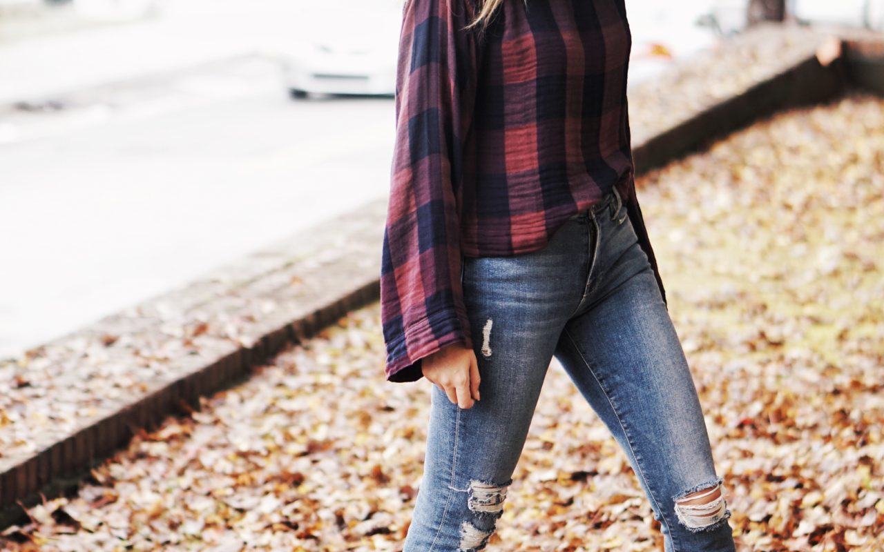 Cloth and Stone plaid top