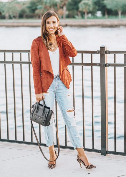 ripped denim with market and spruce rust jacket