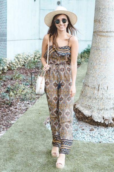 entourage clothing paisley jumpsuit with brixton hat