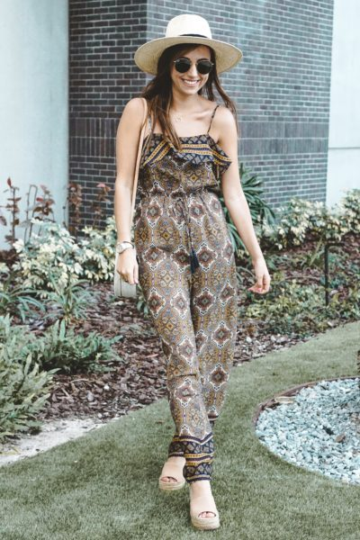 entourage clothing paisley jumpsuit