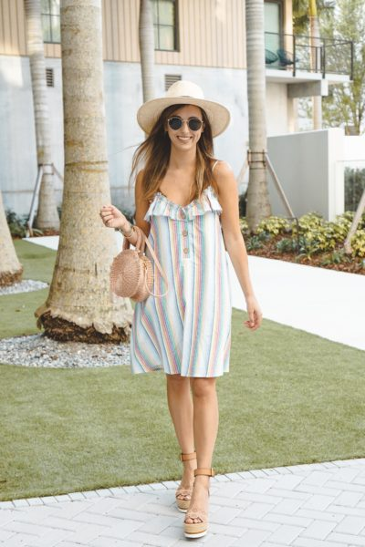 shop entourage rainbow dress with clare v alice
