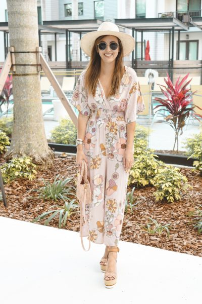 shop entourage floral jumpsuit