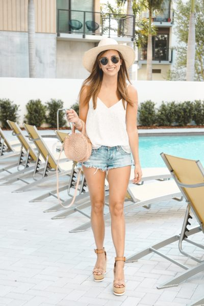 shop entourage dotted tank with one teaspoon shorts