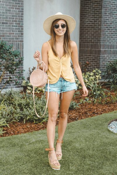 shop entourage yellow tank with clare v petite alice