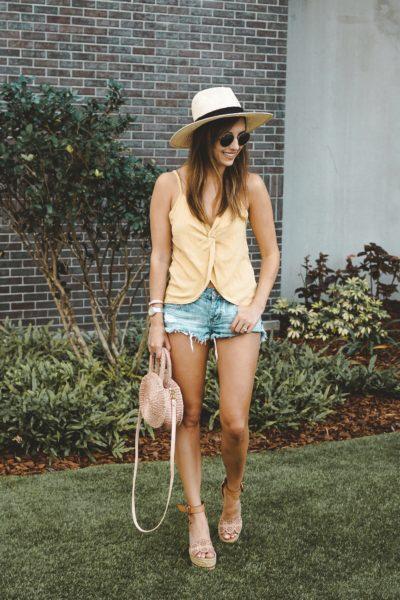 shop entourage yellow tank with brixton hat