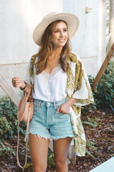 entourage clothing bahama breeze kimono with brixton hat