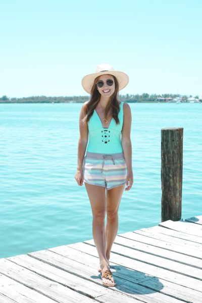 mossimo green one piece