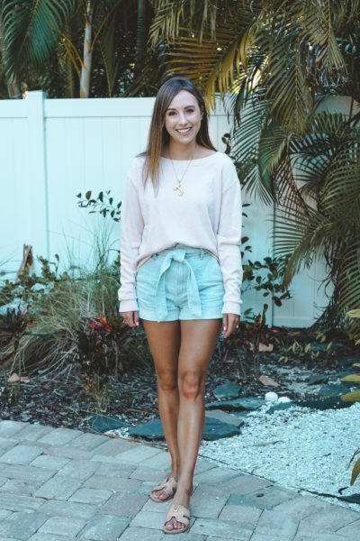 lamade binx pullover with express paper bag shorts