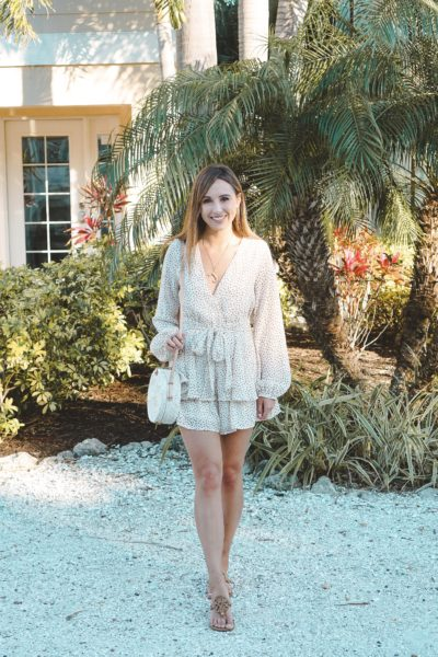 chicwish carefree vacay spotted romper