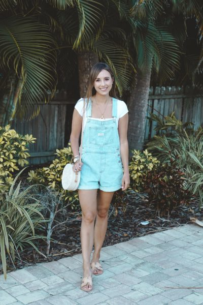 levis overalls with white free people bodysuit