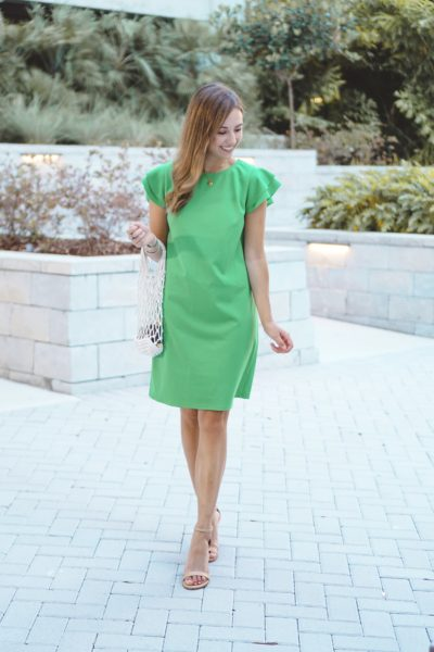 entourage clothing audrey dress in green