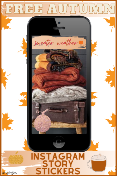 Free Autumn Instagram Story Stickers