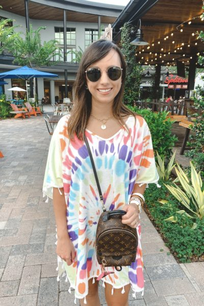 Wearing lately post 36 tie dye tunic dress with louis vuitton palm springs mini at sparkman wharf