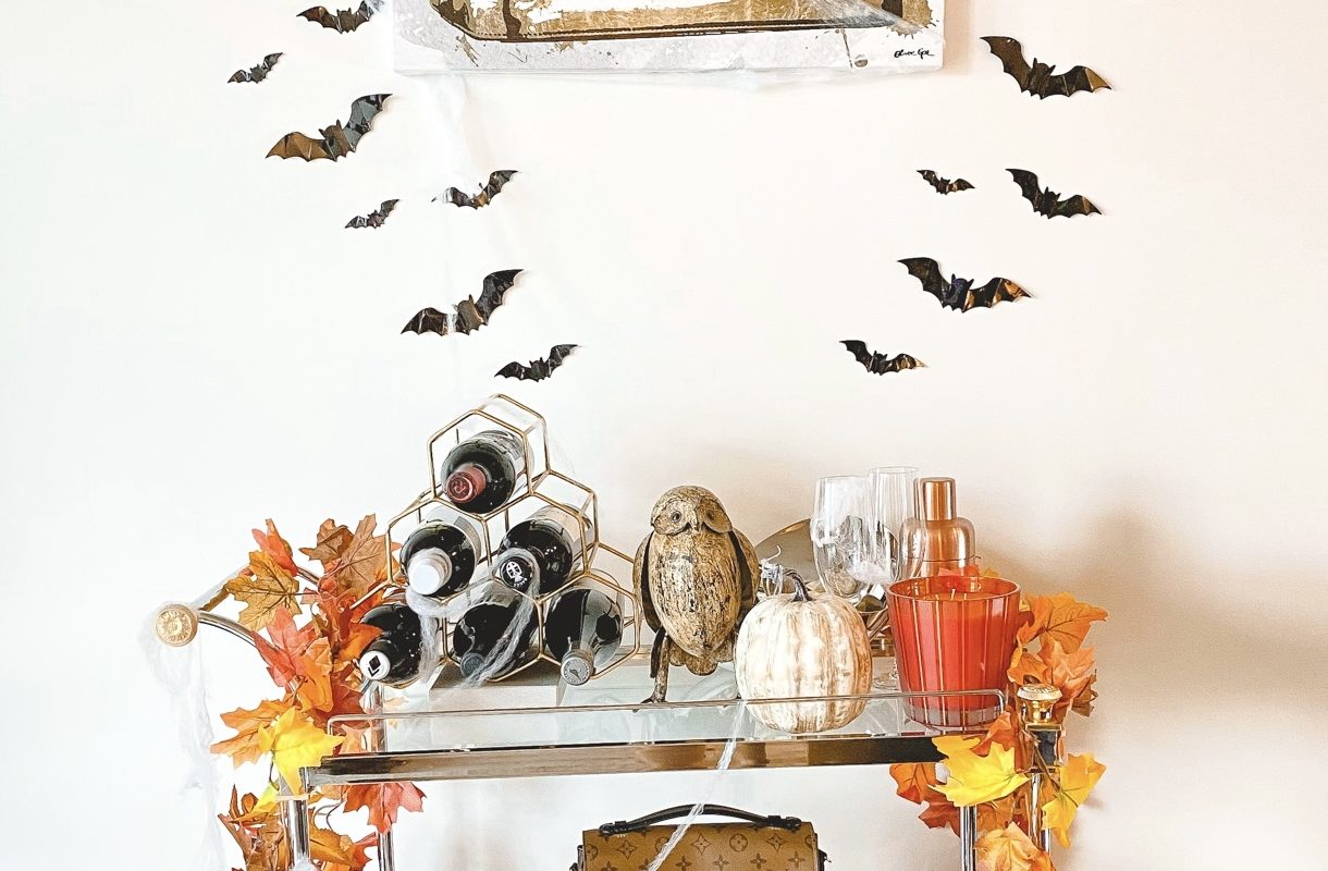 halloween bar cart decorations