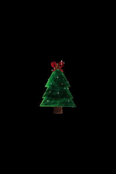 christmas tree sticker 2020
