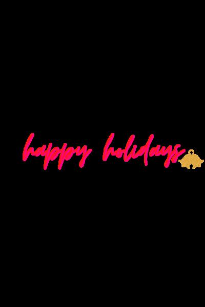 happy holidays sticker 2020