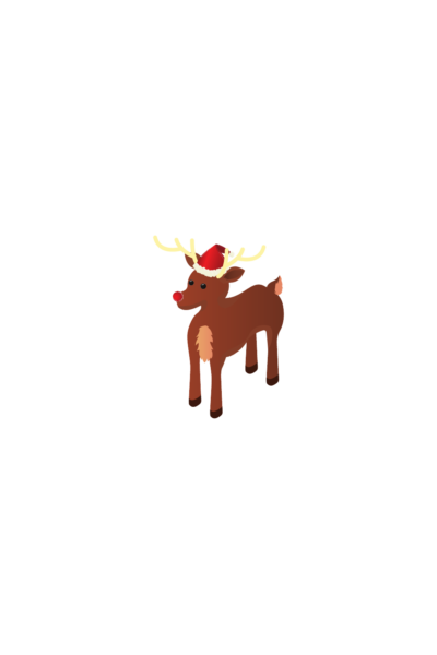 reindeer sticker 2020