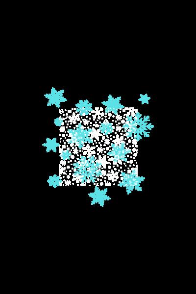 snow fall sticker 2020