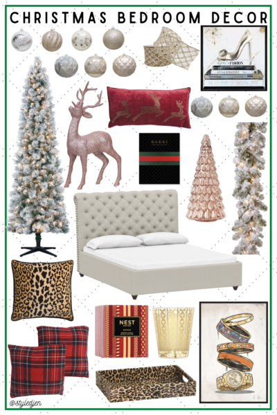 christmas bedroom decor pinterest