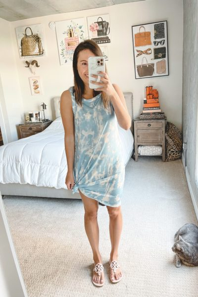 amazon blue tie dye dress