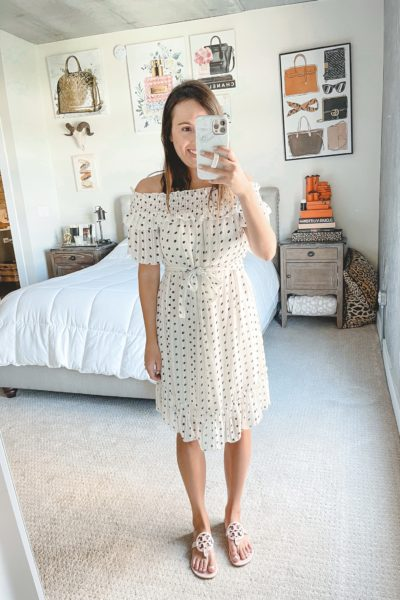 amazon white polka dot dress