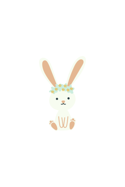 bunny easter story sticker
