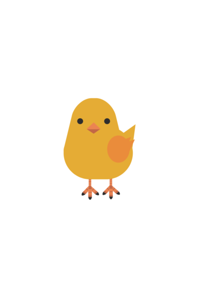 chick easter sticker