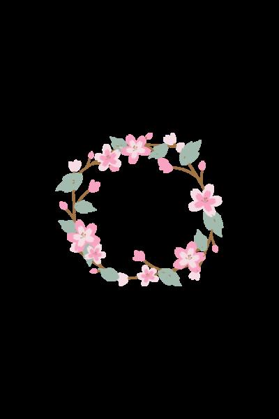 wreath easter sticker