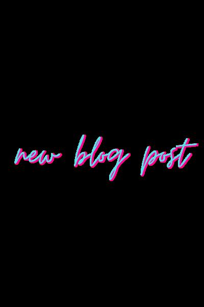 new blog post easter sticker